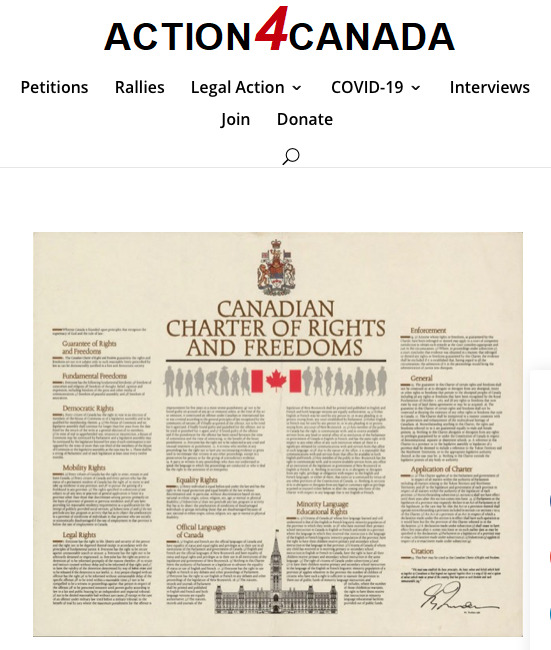 Action for Canada Lawsuit Donation Page