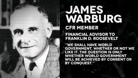CFR quote - We shall world government by consent or by conquest