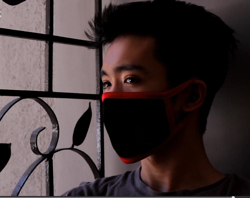 Boy Isolated w Mask
