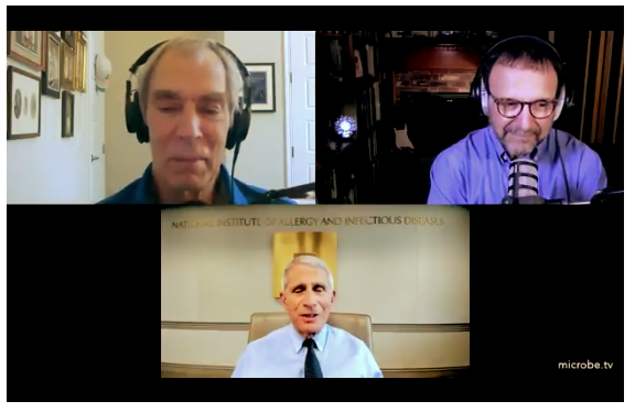 """Tony Fauci: """"It's just dead nucleotides, period."""" Posted on November 6, 2020 by budbromley  In a July 16, 2020 podcast, Dr. Tony Fauci says the PCR COVID test is useless and misleading when the test is run at """"35 cycles or higher."""" Here is an excerpt from Fauci's interview (starting at about the 4-minute mark: """"…If you get [perform the PCR test at] a cycle threshold of 35 or more…the chances of it being replication-confident [aka accurate] are miniscule…you almost never can culture virus [detect a true positive result] from a 37 threshold cycle…even 36…"""" In Fauci's words. """"It's just dead nucleotides, period."""""""