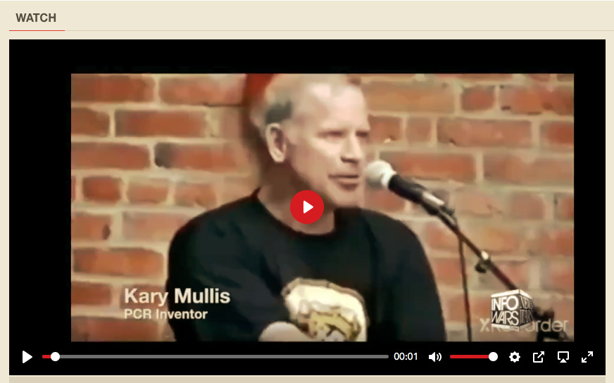 In his own world - Kary Mullis Describes his invention - the PCR TEST
