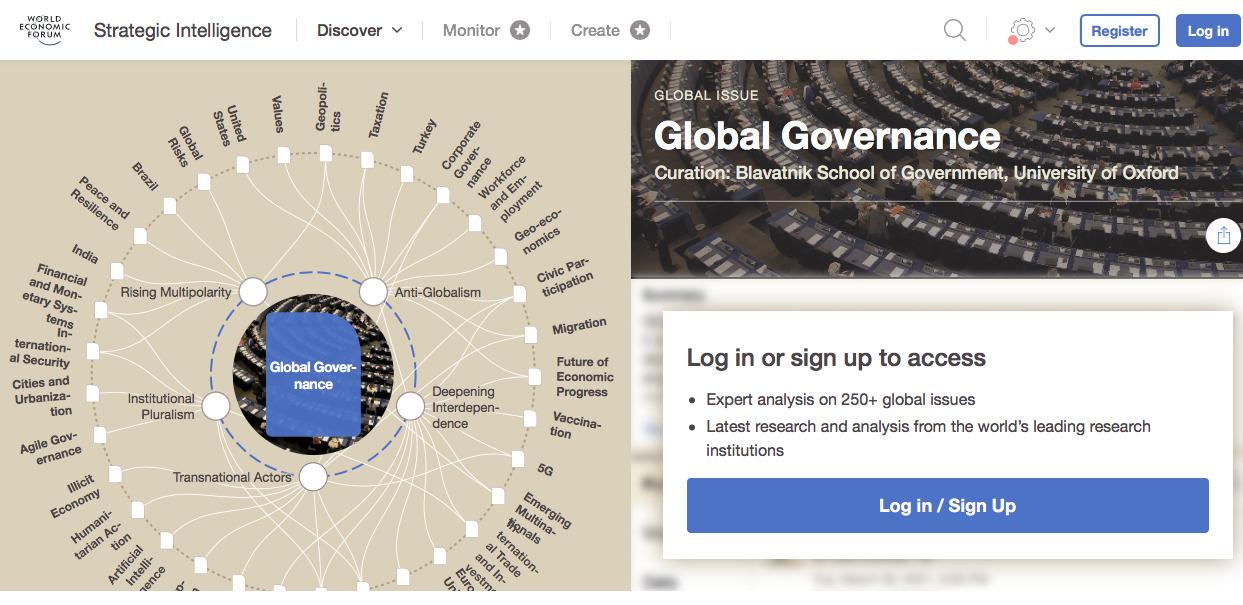 WEF - Global Governance Agenda