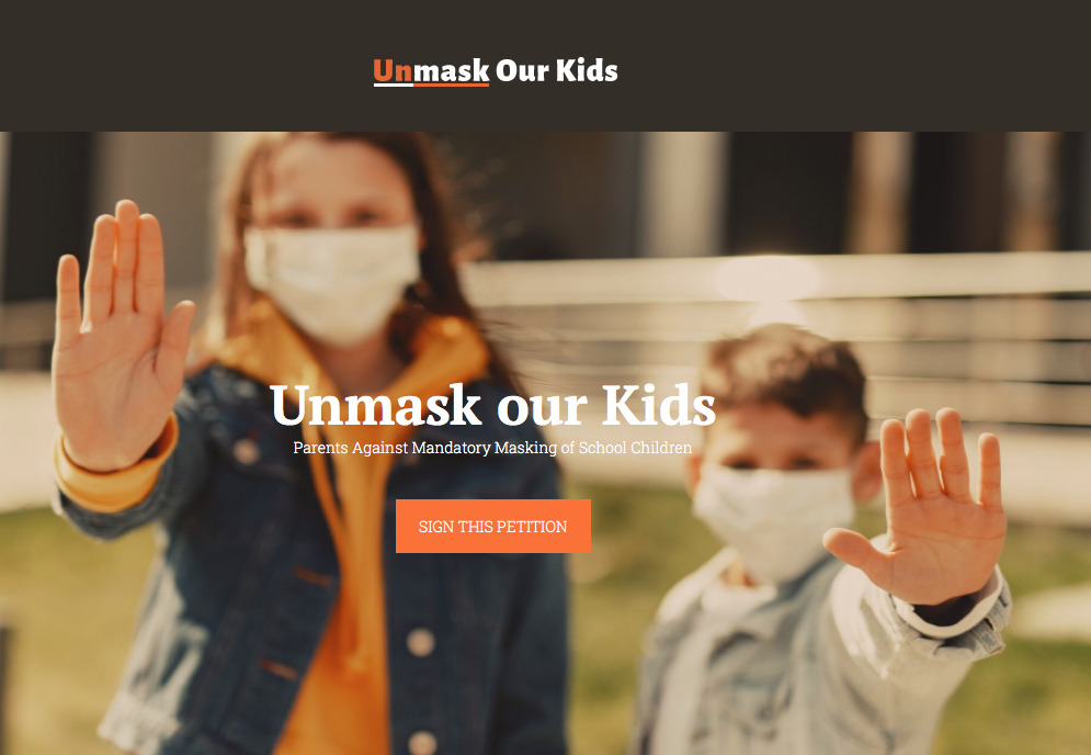Unmask Our Kids PETITION