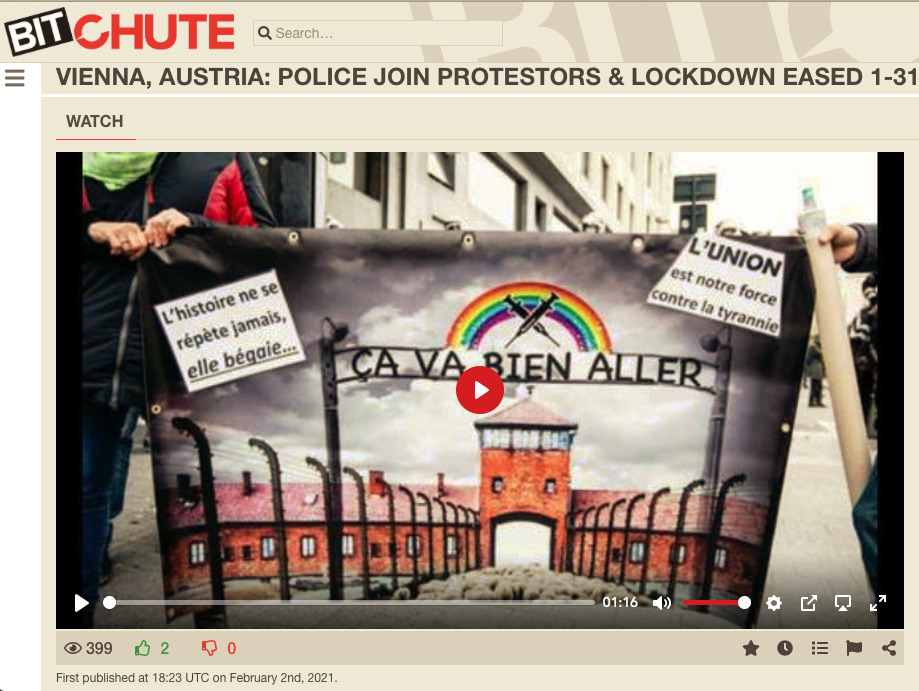 Vienna - Police Join Protestors - Never Again - Nazi Extermination Camps