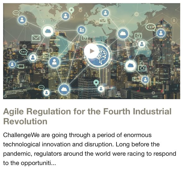 WEF Regulation for the 4th Industrial Revolution