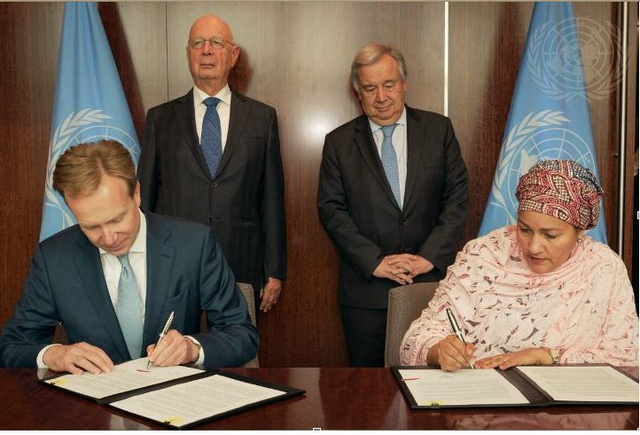 The UN and the WEF sign Strategic Partnership Framework