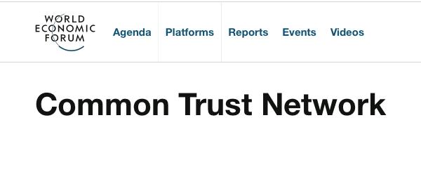 World Economic Forum based Common Trust Network
